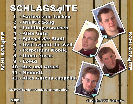 Schlagsaite CD Cover, back